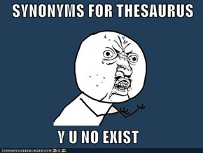 SYNONYMS FOR THESAURUS  Y U NO EXIST