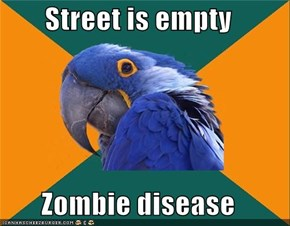 Street is empty  Zombie disease