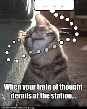 When your train of thought derails at the station...