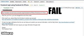 Facebook Notification FAIL