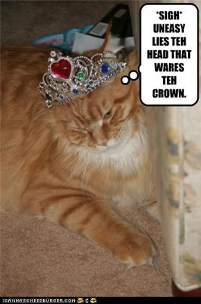 *SIGH* UNEASY LIES TEH HEAD THAT WARES TEH CROWN.