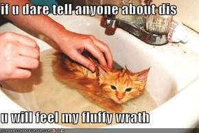 if u dare tell anyone about dis  u will feel my fluffy wrath