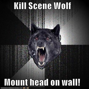 Kill Scene Wolf  Mount head on wall!