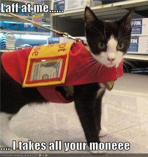 Laff at me......  .... I takes all your moneee