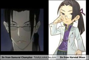 Jin from Samurai Champloo Totally Looks Like Jin from Harvest Moon