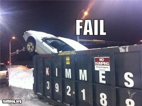 Car In Dumpster Fail