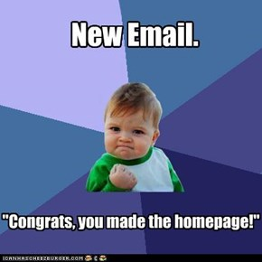 Success Kid: He owns the homepage