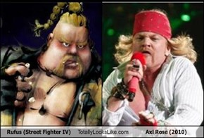 Rufus (Street Fighter IV) Totally Looks Like Axl Rose (2010)