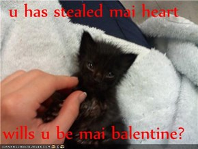 u has stealed mai heart  wills u be mai balentine?