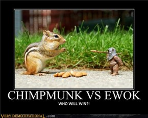 Chimpmunk vs Ewok