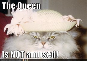 The Queen   is NOT amused!