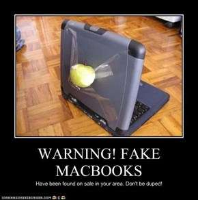 WARNING! FAKE MACBOOKS