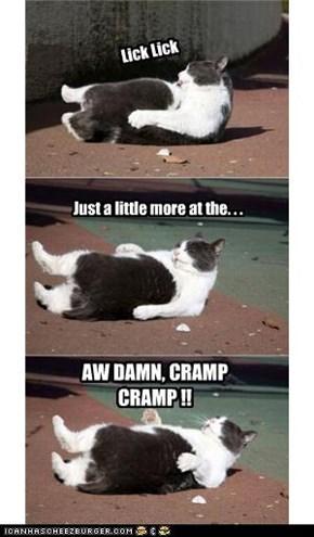 AW DAMN, CRAMP CRAMP !!