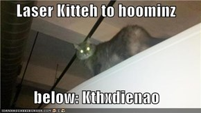 Laser Kitteh to hoominz  below: Kthxdienao