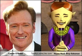 Conan O'Brien Totally Looks Like Happy Mask Shop Salesman