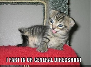 I FART IN UR GENERAL DIRECSHUN!