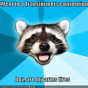 Went to a Transformers convention  boy, are my arms tires