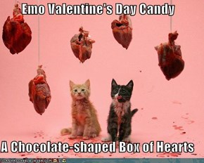 Emo Valentine's Day Candy  A Chocolate-shaped Box of Hearts