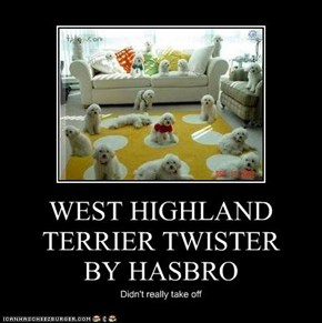 WEST HIGHLAND TERRIER TWISTER  BY HASBRO
