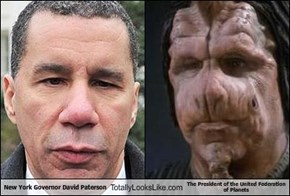 New York Governor David Paterson Totally Looks Like The President of the United Federation of Planets