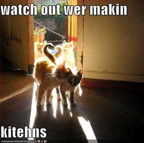 watch out wer makin   kitehns