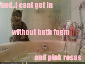 and..i cant get in  without bath foam  and pink roses
