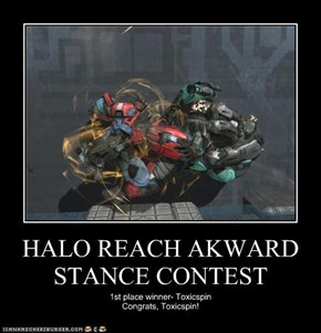 HALO REACH AKWARD STANCE CONTEST