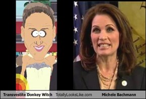 Transvestite Donkey Witch Totally Looks Like Michele Bachmann