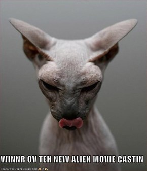 WINNR OV TEH NEW ALIEN MOVIE CASTIN