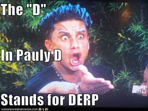 "The ""D"" In Pauly D Stands for DERP"