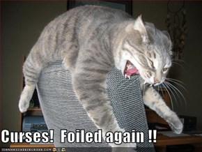 Curses!  Foiled again !!