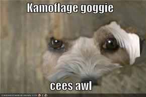 Kamoflage goggie  cees awl
