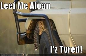 Leef Me Aloan  I'z Tyred!