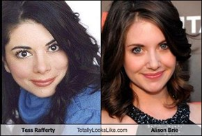 Tess Rafferty Totally Looks Like Alison Brie