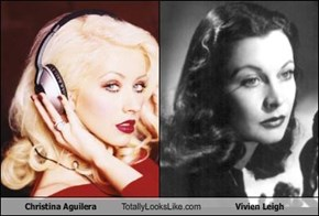 Christina Aguilera Totally Looks Like Vivien Leigh