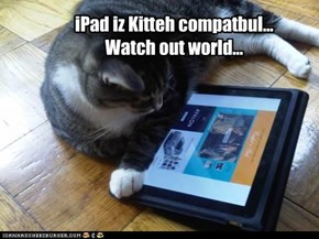 iPad iz Kitteh compatbul... Watch out world...