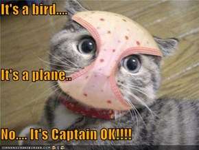 It's a bird.... It's a plane.. No.... It's Captain OK!!!!