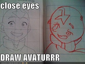close eyes  DRAW AVATURRR