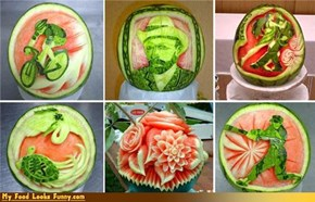 Talent + free time = food art