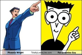 Phoenix Wright Totally Looks Like For Dummies Guy