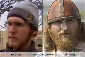 Zach Trax Totally Looks Like This Viking