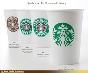Funny Food Photos - New Starbucks Logo