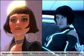 Elizabeth (Bioshock Infinite ) Totally Looks Like Olivia Wilde (Tron Legacy)