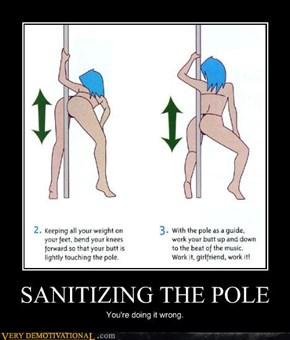 SANITIZING THE POLE