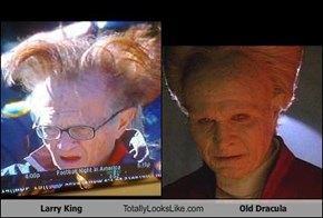 Larry King Totally Looks Like Old Dracula