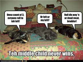Teh middle child never wins.