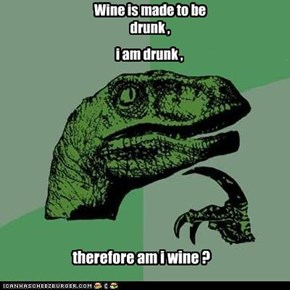 Wine is made to be drunk ,