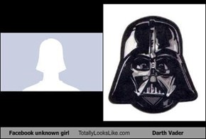 Facebook unknown girl Totally Looks Like Darth Vader