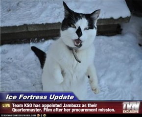 Ice Fortress Update - Team KSO has appointed Jambuzz as their Quartermaster. Film after her procurement mission.