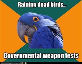 Raining dead birds...